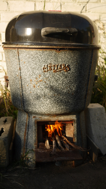 And the firing up of our 'Rocket Stove Pizza Oven'. Just an experiment so far; stay tuned.